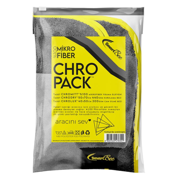 CHROPACK Mikrofiber Oto Yıkama Paketi