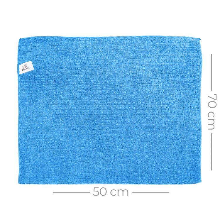 Mikrofiber Kareli Araç Kurulama Bezi 50x70 380gr/m2 - Mavi