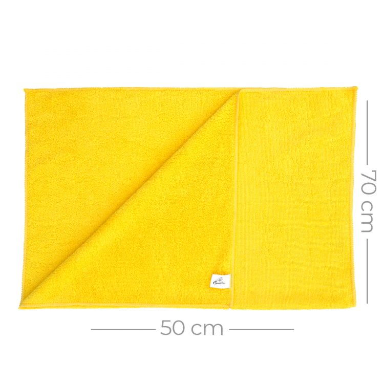Mikrofiber Temzilik Ve Kurulama Bezi 50x70 265gr/m2 - Sarı